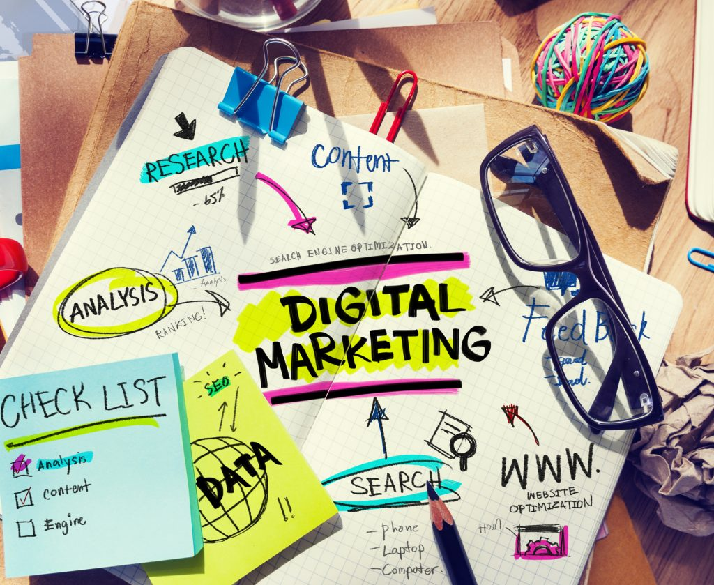 Digital marketing zebra crossing world